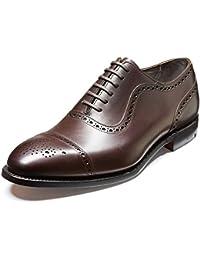 Barker - Zapatos de cordones de Piel para hombre blank, color negro, talla 43