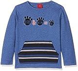 s.Oliver Baby-Jungen Langarmshirt 65.710.31.7509, Blau (Blue Melange 55W0), 92