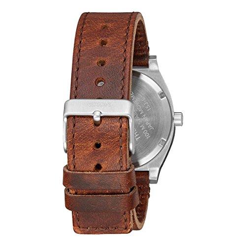 Nixon Herren Analog Quarz Uhr mit Leder Armband A0452334-00