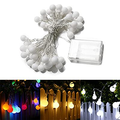 Gledto 4m/13 feet 40 Led Waterproof Globe String Lights Battery Fairy Starry Light for Bedroom, Home,Garden, Christmas, Wedding - inexpensive UK light shop.