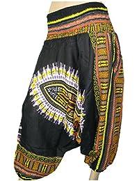Lovarzi - Pantalón de pijama de entrepierna femenina llamativa caída pantalón estampado floral