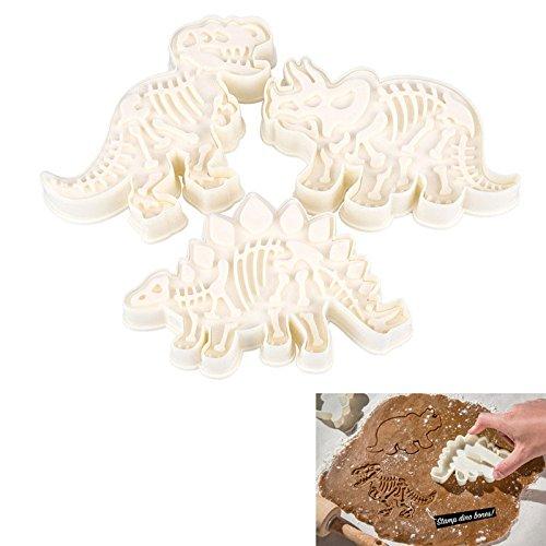 3/Set Dinosaurier Ausstecher in Form 3D Biscuit Sugarcraft Dessert Backform Fondant Kuchen dekorieren Tools
