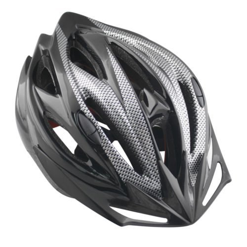 Happyjoy Casco de la Bicicleta con el Visera 58-61cm Universal para Adultos de la Bicicleta MTB Negro