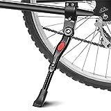 phixilin Béquilles pour Vélo, Béquille Réglable Alliage d'aluminium MTB Bike Stand avec Pied en Caoutchouc Antidérapant Universel Sidestand Kickstand pour VTT, Vélo de Route, Vélo et Autres 20'- 27'