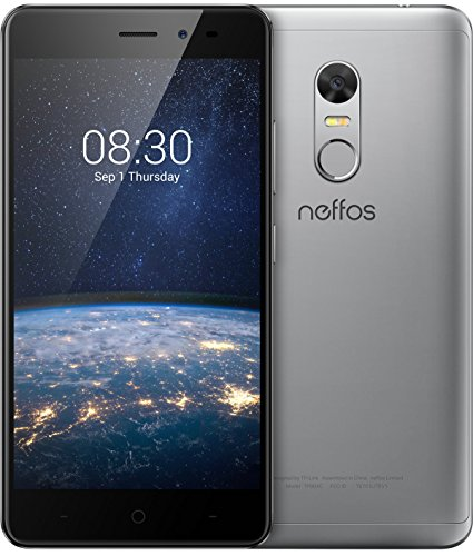 Image of TP-Link Neffos X1 Lite 4G LTE Smartphone, 5 Zoll HD Display (12,7cm), 16GB Speicher, Dual Sim, 13 MP Kamera, Android 7.0, Cloudy Grey, Grau