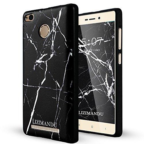 Xiaomi Redmi Note 3 Pro Funda,Lizimandu 3D Patrón Protectiva Carcasa de Silicona Gel TPU estrecha Case Cover Para redmi note 3 pro(Mármol Negro/Black