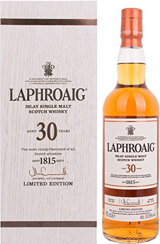 Laphroaig 30 Years Old Limited Edition Whisky mit Geschenkverpackung (1 x 0.7 l)