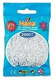 DAN Import Hama 501-01 - Cuentas mini para planchar (2000 unidades), color blanco