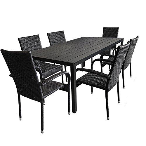 7tlg. Gartenmöbel-Set Aluminium Polywood - gartenmoebel-set-vergleich.de