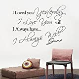 Removable Wall Sticker Decal Mural DIY Room Art Decoration LOVE Quote