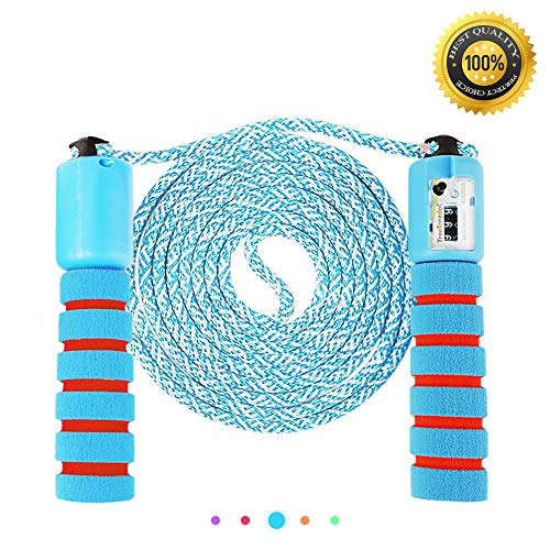Nasharia Springseil, Springseile Speed Rope mit Zähler Und Komfortablen & Anti-Rutsch Griffen für Fitness und Boxen Training |Erwachsene, Kinder