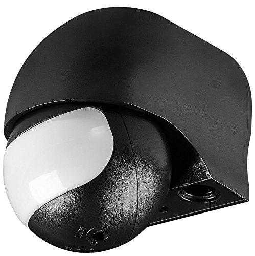 WireThinX slim Bewegungsmelder (weiss) Infrarot Aufputzmontage für Innen- und Außenbereich für LED geeignet, Erkennungsbereich bis 12 m, Erkennungswinkel 180°, Mindestlast ab 1 W