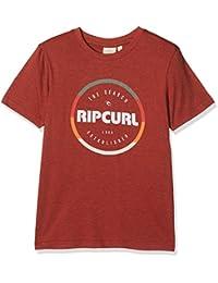 RIP CURL Round–Camiseta de Manga Corta para niño, Niño, Round, Red Marle, FR : 2XL (Taille Fabricant : 16)