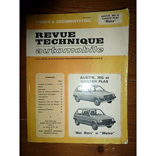 RRTA0428.1 - REVUE TECHNIQUE AUTOMOBILE AUSTIN MG VANDEN PLAS METRO Tous types