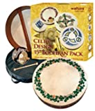 "WALTONS PACK 15"" SHAMROCK Irish Bodhran - Gift Set"