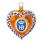 Inge-glas HB Hofbrauhaus Lebkuchen Gingerbread Heart German Ornament Free Box