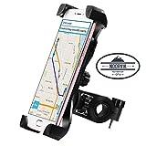 NOORVIK Certificato - Supporto Smartphone per Bici e Moto || Porta Cellulare Universale Regolabile Manubrio per Moto, MTB Bike e Bicicletta da Corsa e Ciclismo, Estendibile Rotazione a 360° Gradi Orizzontale e Verticale || Compatibile con Telefono Dispositivi con Cover Edge/Plus, iPhone 6/7/8, Samsung Galaxy A/J/S e Note, Huawei, Android, 6.5' Pollici, Gopro Sport, GPS etc.