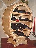 Scaffale vini Botte-vino per 12 Bottiglie verniciatura naturale Porta bottiglie a forma di botte