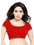 Designer stone velvet blouse