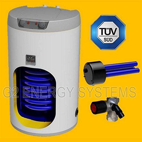 100 L Liter Warmwasserspeicher Standspeicher Elektrospeicher Keramikheizstab mit Trockenheizpatrone incl. Sicherheitsventil