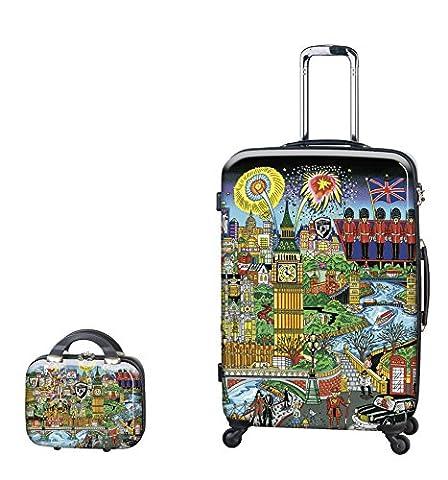 PREMIUM DESIGNER Hardside Luggage set 2 pcs. - Heys Artist Fazzino London Trolley with 4 Wheels Large + Beauty Case 470579031&Artist&27+28