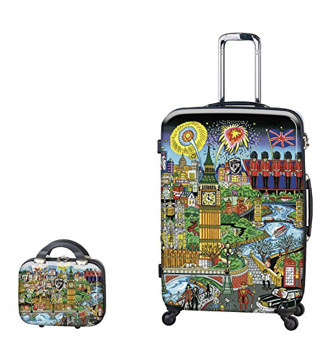 PREMIUM DESIGNER Hartschalen Kofferset 2 tlg. - Heys Künstler Fazzino London Trolley mit 4 Rollen Gross + Beauty Case 243654011&Künstler&27+28