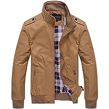 Quge Giacca da Uomo Giacche Classico Retro Vintage Manica Lunga Casual  Outwear Jacket fbc17506aa8