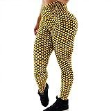 Qiuday Bedruckte Leggings Print Leggins Damen Tummy Control Running Jogginghose für Yoga, Sport, Fitness, Laufen Hoch Taillierte Die Fitness-Hosen High Waist Kompressions Strumpfhose Sporthose