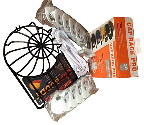 CAP BUDDY & CAPRACK 30 KAPPENHALTER - Caprack mit 10 Clips weiß & Cap Buddy Cap Washer - wird oft zusammengekauft - jetzt günstig zu einem Preis