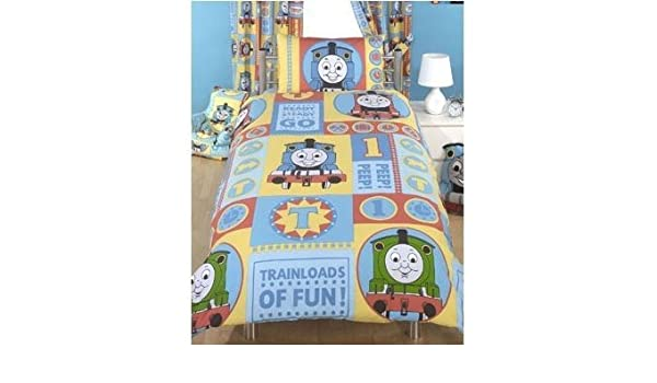 Official Thomas The Tank Engine Bedding Set Duvet Cover And Pillow Case Single Bed Amazoncouk Kitchen Home