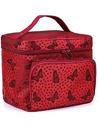 Clayre /& Eef Kosmetiktasche Tasche Etui Handtasche Clutch Bag Vögel Blumen rosa