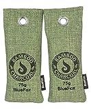 Blue Fox 2er Set 75g Bambus Aktivkohle Lufterfrischer Küchen-Schrank Geruch Filter Luftreiniger Sportschuhe Entfeuchter Tasche Deko Auto Feuchtigkeit Anti Schimmel gegen Schweiß Stiefel in grün