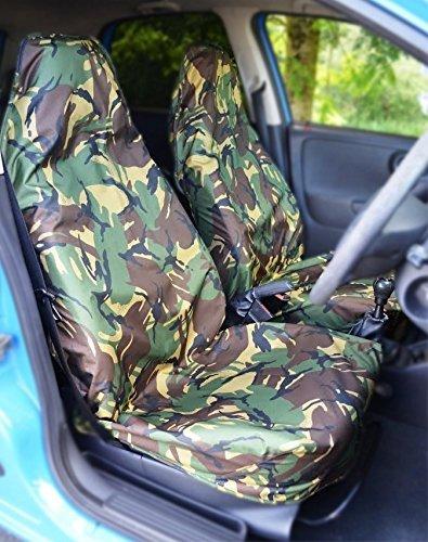 Rhino Automotive© Heavy Duty DPM Camouflage Autositzbezüge 1+ 1rw0373 (Sicherheitsgurt Ram)