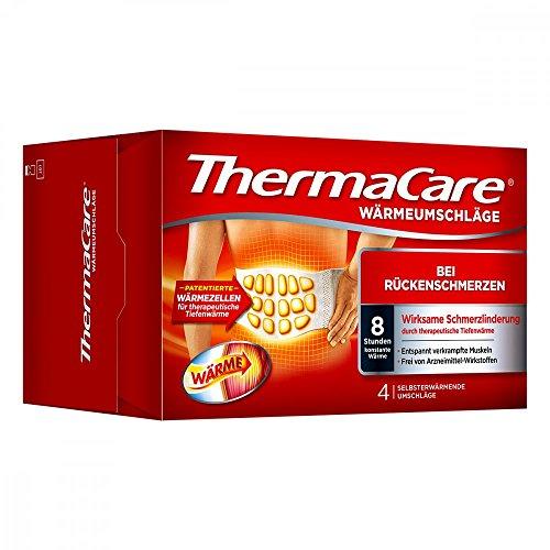Pfizer Thermacare - Confezione da 4 fasce autoriscaldanti per schiena, S-XL