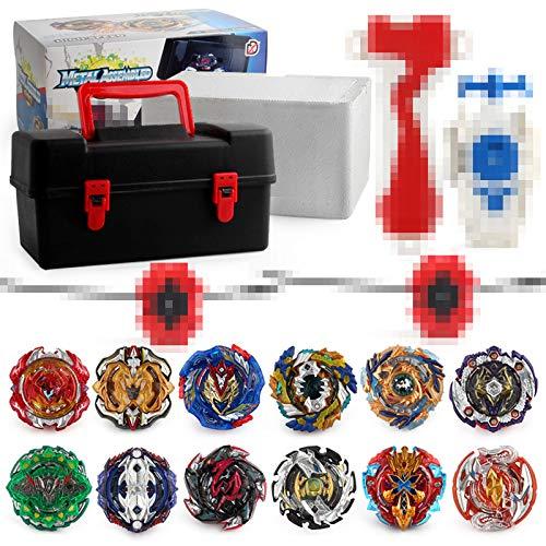 LanLan 12 in 1 Burst Gyro-Anzug Kids Montage Spielzeug mit Aufbewahrungsbox (Beyblade 12)