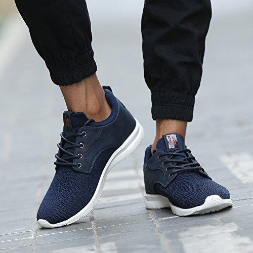 Maylen Hughes Uomo Donna addestratori correnti Casual Scarpe stringate Light Weight piedi scarpe da ginnastica di sport Marina Militare