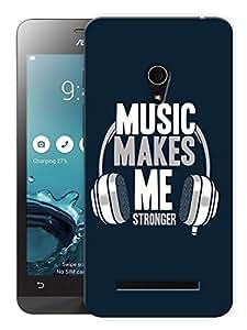 "Ulta Anda Music Makes Me Stronger Dj Printed Designer Mobile Back Cover For ""Asus Zenfone 6"" (3D, Matte Finish, Premium Quality, Protective Snap On Slim Hard Phone Case, Multi Color)"