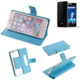 K-S-Trade Flipcover für Haier Phone L53 Schutz Hülle Schutzhülle Flip Cover Handy case Smartphone Handyhülle blau