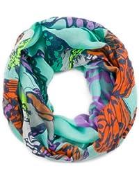 style3 Damen Loop-Schal mit Schmetterling-Muster in eleganten Farben