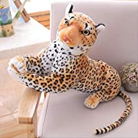 khfkdjsbfcksb Stuffed Animal Toy Simulation Leopard Black Panther Doll Large Plush Toy Child Girl Sleeping Pillow Backrest 50cm leopard