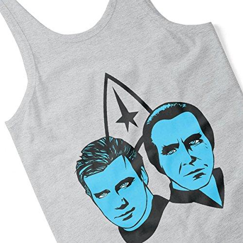 Kirk Vs Khan Star Trek Men's Vest Heather Grey