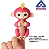 Shadow Securitronics 1Pcs Color Fingerlings Interactive Baby Monkey Toy For Kids Finger Touch Sensitive Fingertip Monkey Style Toy (Color Random )