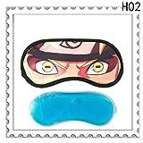 Bequeme Gel Augenpflege Schild Schlafen Entspannung Augenbinde Patch Brille für Reisen Schlafen, 2