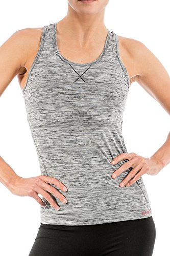 Sundried Lightweight High-Stretch Seamless Women's Gym Yoga Vest for Workout Fitness Sports Made in Italy