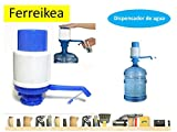 Dispensador de agua manual para garrafas - bomba compatible con botellas (PET) de 5, 6, 8 y 10 litros