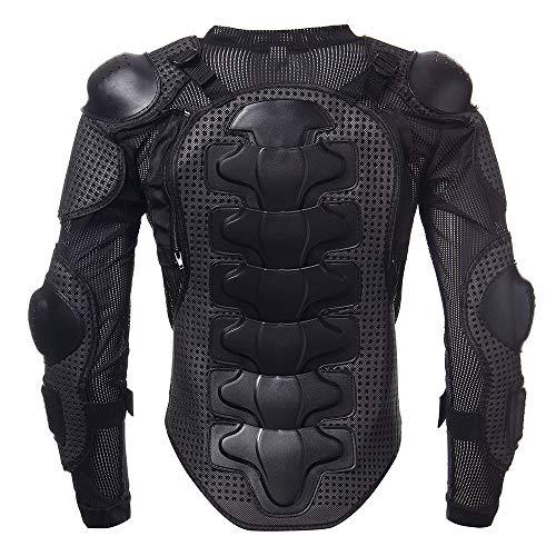 KKmoon Giacche da Moto, Armatura di Giubbotto da Motociclista per Tutto Il Corpo, Protezione Toracica per Spalla, L