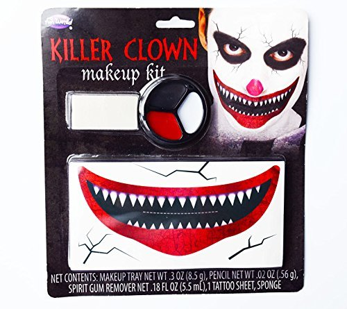 The Joker Make Up Face Paint Clown Smile Mouth Batman Dark Night Fancy Dress Him by Card and Party Store