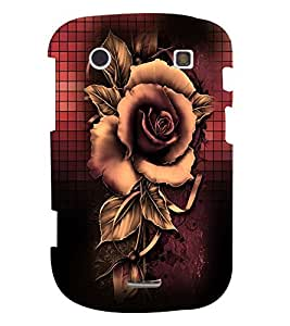 Fuson Premium Artistic Rose Printed Hard Plastic Back Case Cover for Blackberry Bold 9900