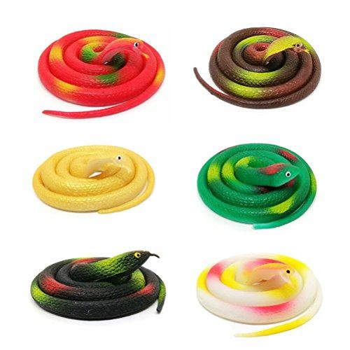 alistische Schlange Spielzeug Lustige Gummi Schlange Figur Set Party Favors Streich Spielzeug für Kinder Kinder Halloween Aprilscherz Kinder Party Dekoration ()