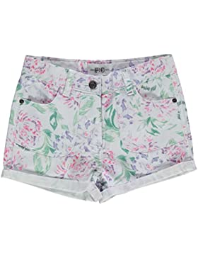 French Connection Ragazza Junior Denim Jeans Pantaloncini Shorts Con Risvolti